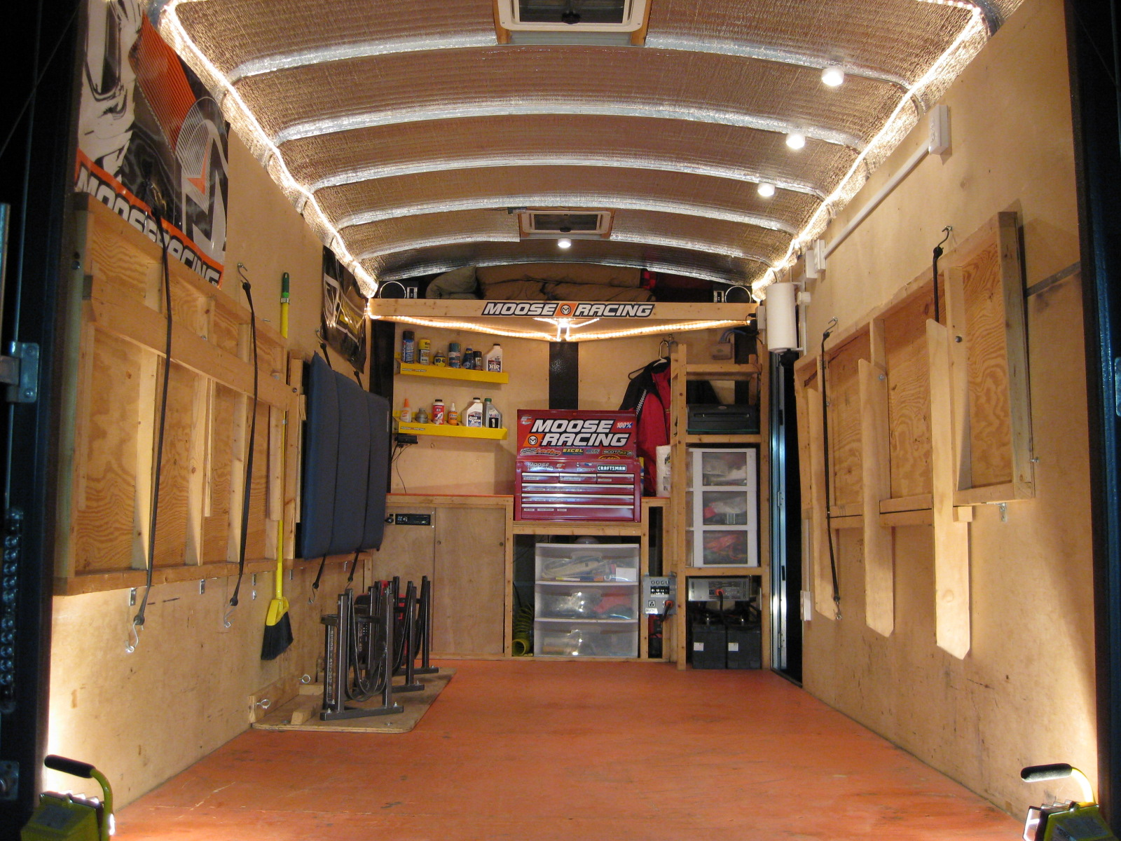 Enclosed Landscape Trailer Setup Ideas Car Interior Design
